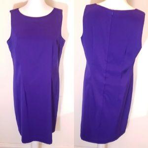 AGBdress Purple Sleeveless Shift Dress